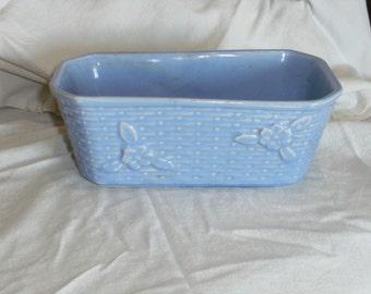 Vintage Blue Rectangle Planter