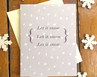Xmas in July SALE Lilac Snow Pack of 5 Christmas Cards