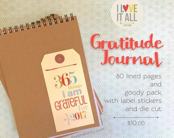 Gratitude Journal Notebook . 365 Things I Am Grateful For . Happiness Positive Thanking Daily Document Thankful Blessings Book Diary
