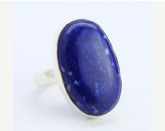 VALENTINE SALE 55% Lapis Sterling Silver Ring 1266RG