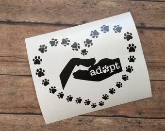 Adopt a dog Decal