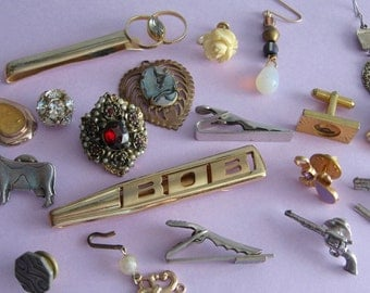 Jewelry Bits and Baubles to Collect,  Crafting, Sewing, Collage, Steampunk, Mixed Media, Abstract, Parts, Supplies  18 pieces