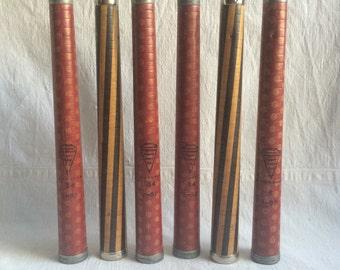 Vintage Paper Tube Co  knitting yarn bobbins