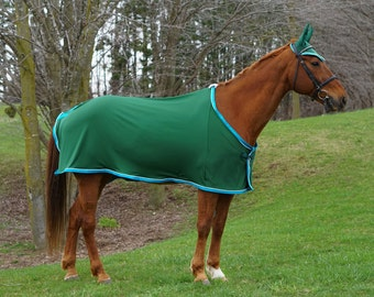 Custom Horse Scrim Sheet - Anti Wicking Fabric, Choose your size and finishes, by Sew Custom Deigns