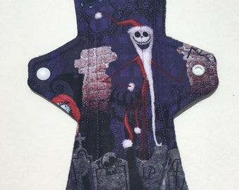 10 Inch Cloth Menstrual Pad Regular Flow Nightmare Before Christmas