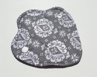 "Thong Liners Cotton Fleece 6"" Gray Damask"