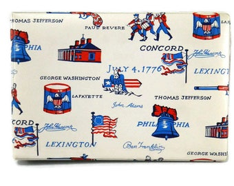 Vintage Bicentennial Photo Album American Revolution 1970s Puffy Vinyl Cover Removeable Pages