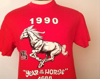 SALE Vintage Year of the Horse Tshirt