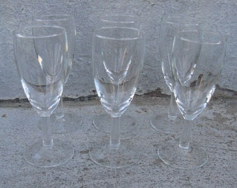 luminarc stemware clear glass whiskey sours glasses set of 6 made in france originally box 4 oz. j g durand lafayette