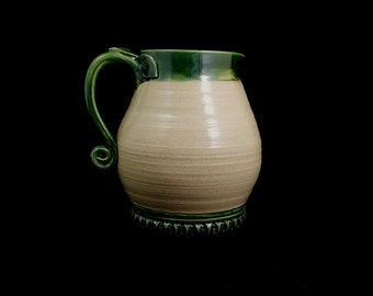 Stoneware Leaf Pitcher