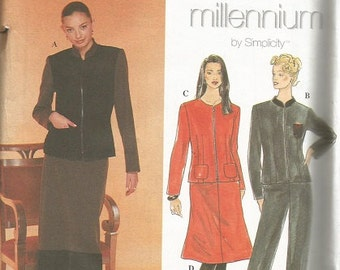 Simplicity 8850 Mellennium Jacket, Skirt and Pants Pattern SZ 16-22