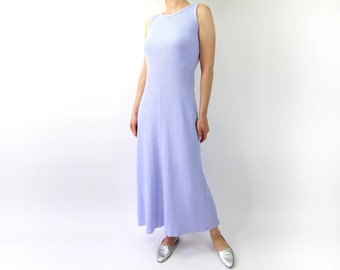VINTAGE 1990s Tank Dress Pastel Purple Maxi