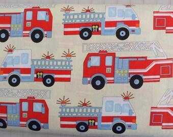 Fire Truck Fabric Hook Ladder Fabric Cotton Fabric Sewing Fabric Quilting Fabric Craft Material Boys Fire Truck Fabric Benartex