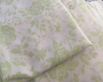 Vintage twin sheet set flat,fitted 2 pillow caes