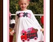 Valentine Dress XOXO Love Truck - Valentine Dress Toddler Girls