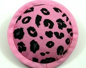 Catnip Toy, Leopard Print Pillow, Baby Pink and Black Pillow, Cat Pillows, Animal Print Cat Toy, WILD LIFE
