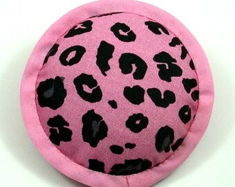 Catnip Toys, Leopard Print Pillow, Baby Pink and Black Pillow, Wildlife Cat Pillows, Animal Print Cat Toy, Fake Fur Cat Toys  WILD LIFE
