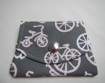 Credit card wallet and change purse for bikers-bike pattern