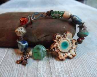 Bohemian Artisan Bracelet Color and Charm
