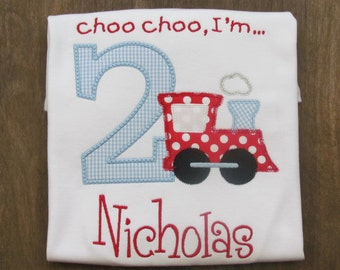Boys Train Birthday Shirt, You Design