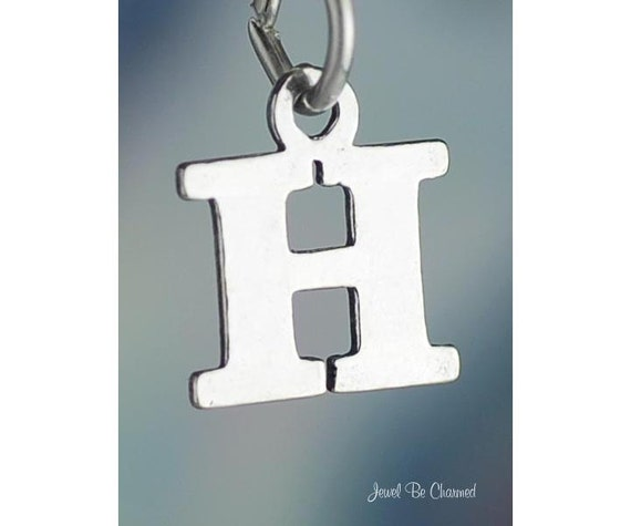Silver Letter H: Small Letter H Charm Sterling Silver Alphabet Initial Capital