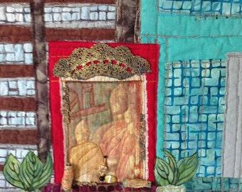 Batik Art Quilt, Quilted Wall Art, Asian Inspired Art, Abstract Fiber Art, Modern Decor Art, Etsy Shop, Quiltsy Handmade