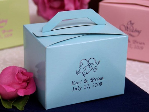 100 Personalized Favor Boxes Bulk Wedding Favor Boxes