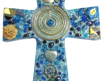 Blue Circles Cross