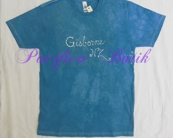 Gisborne NZ batik t-shirt - blue