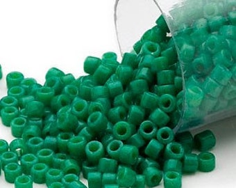 Miyuki Delica #656 Opaque Green 11/0 in 1, 5 or 10 gram package