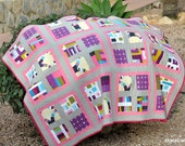 Pink Wave Quilt - A Colorful Throw - ready to ship