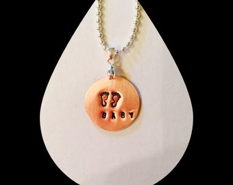 Hands Stamped Baby Pendant