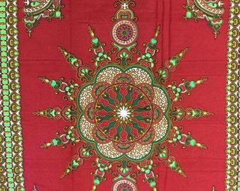 Red dashiki fabric per panel/ Dashiki clothing/ Addis Ababa/ Dashiki Bags/ Kitenge fabric/ Java print