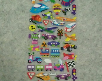 Mixed Assorted Vehicles Stickers