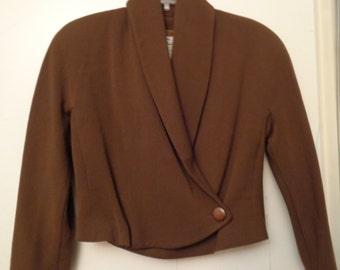 VINTAGE 1980's Ladies Brown GENNY Short Bolero Jacket (available)