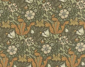 Morris Earthly Paradise - Compton in Tea by Barbara Brackman for Moda Fabrics
