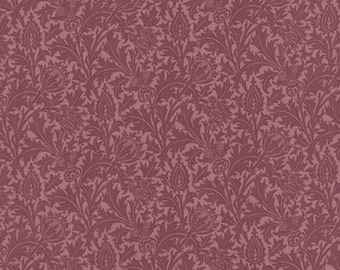 Morris Earthly Paradise - Thistle in Wine by Barbara Brackman for Moda Fabrics