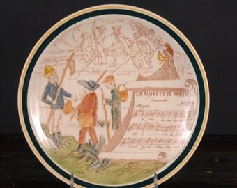 Vernon Kilns, Opera Plate, La Muette de Portici