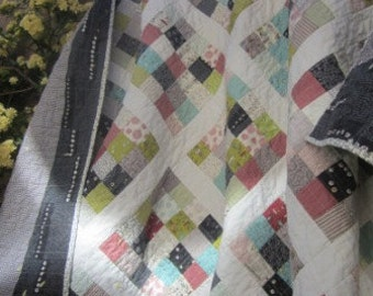 Road 15..........A Lap Size Quilt........Ready to Ship