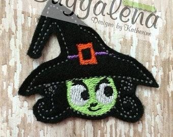 ON SALE Witch Feltie Machine Embroidery Design