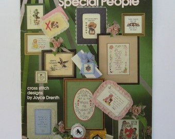 Special Days Special People. Leisure Arts Leaflet 238. 31 cross stitch patterns plus alphabet. For all occasions. 1982.