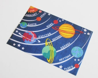Miniature Rug Solar System Design for Childs or School classroom in 1:12 Scale