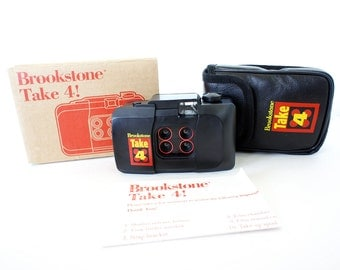 Vintage Brookstone Take 4 Lomo Camera w/ Manual and Box - Film Tested Working