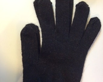 Alpaca Gloves - Womens - Dark Brown