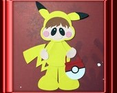 PIKA COSTUME Embellishments Paper Piecing card making and scrapbooking