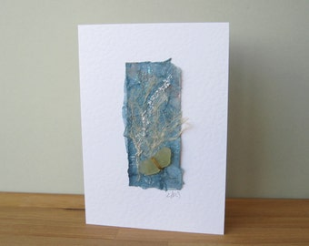 Seashore Art Card with Sea Glass