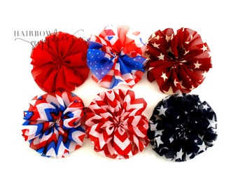 July 4th Ballerina Flowers 3 inch - 4th of July Flowers, Red White And Blue Flowers, Patriotic Flowers, July Fourth, Fourth of July