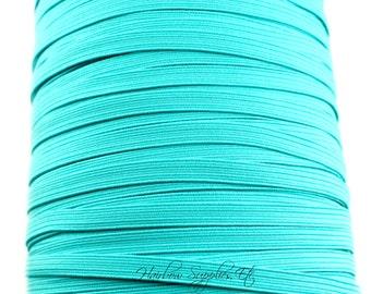 Turquoise Skinny Elastic 1/4 inch - Thin Elastic, Skinny Elastic, Elastic Trim, Thin Headband, Skinny Headband