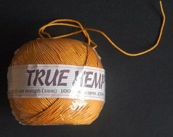 1 Yellow Hemp Twine. Barely Used. Sale Lot