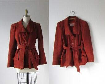 vintage 1970s jacket / 70s suede coat / Good Morning Angels